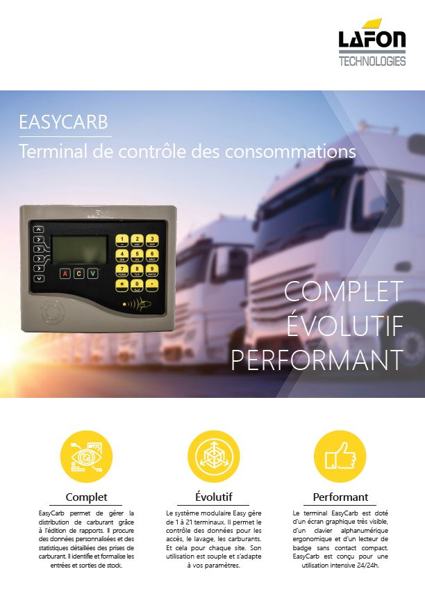 Terminal de gestion Easy Carb